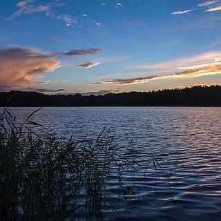 Mecklenburgische Seenplatte am Abend