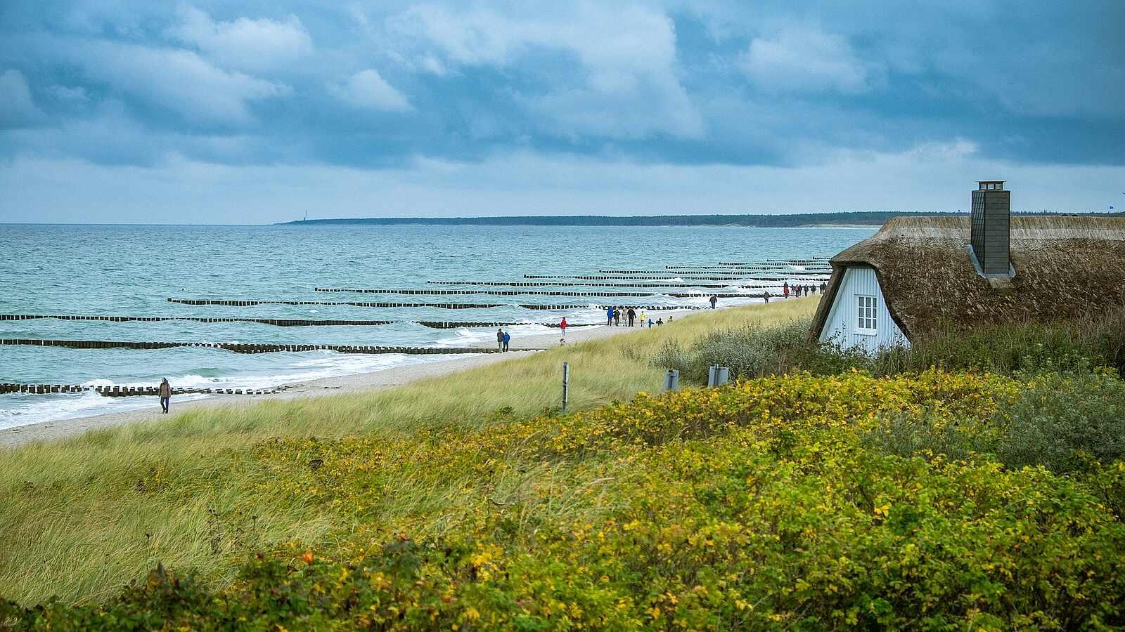 Küste von Ahrenshoop in Mecklenburg-Vorpommern