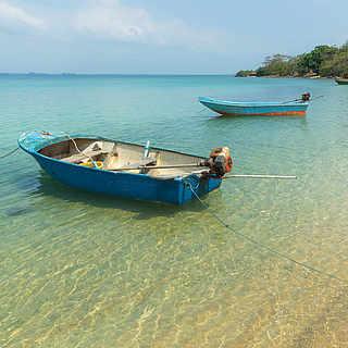Boot am Strand der Kapverdischen Inseln