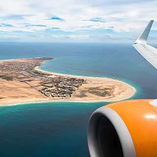 Anreise mit dem Flug auf die Kapverdischen Inseln