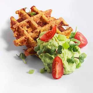 Rezept Süßkartoffel-Waffel mit Avocadocreme