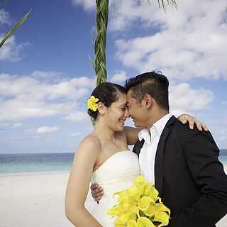 Strand, Paar, Paarurlaub, Malediven, Honeymoon