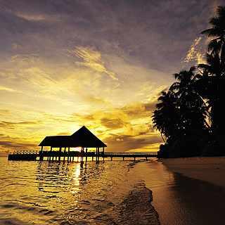 Sonnenuntergang, Strand, Meer, Plamen