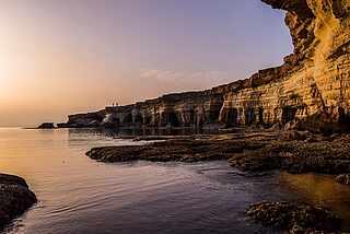 Kap Greco auf Zypern bei Sonnenuntergang