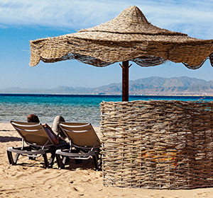 Clubanlage Strand Sonnenschirm ROBINSON CLUB SOMA BAY Ägypten