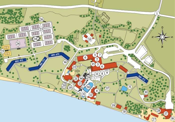 Lageplan ROBINSON Club Kyllini Beach