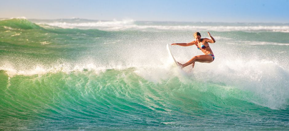 Surfing at CLUB AGADIR