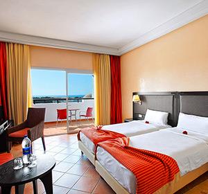 Doppelzimmer mit Balkon und Meerblick im ROBINSON CLUB AGADIR in Marokko