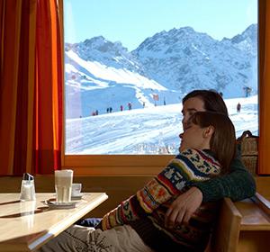 Winter Restaurant Ausblick ROBINSON CLUB AROSA Schweiz