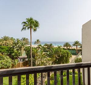 Einzelzimmer Patio (EZX1) Blick vom Balkon ROBINSON CLUB JANDIA PLAYA Fuerteventura