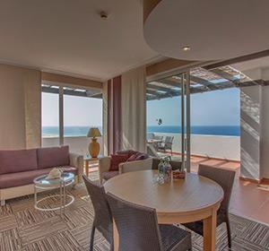 Zimmer Suite Haupthaus Meerblick (SUM1) Wohnbereich ROBINSON CLUB JANDIA PLAYA Fuerteventura