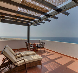 Zimmer Suite Haupthaus Meerblick (SUM1) Terrasse ROBINSON CLUB JANDIA PLAYA Fuerteventura