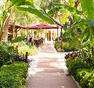 Gartenanlage ROBINSON CLUB CAMYUVA Türkei